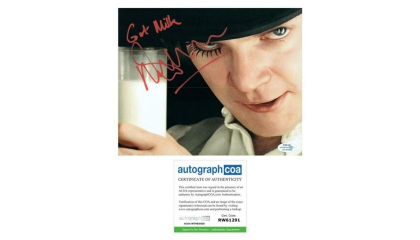 "Malcolm McDowell ""A Clockwork Orange"" Hand Signed Photograph"