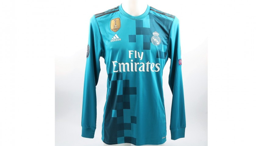 hot sale online 4393f 03c9c real madrid blue jersey long sleeve