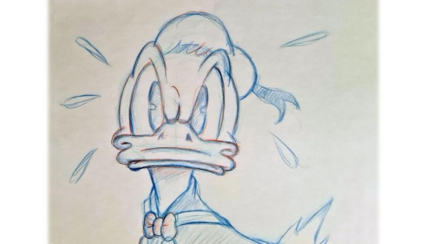 Original Donald Duck Drawing by José María Millet López