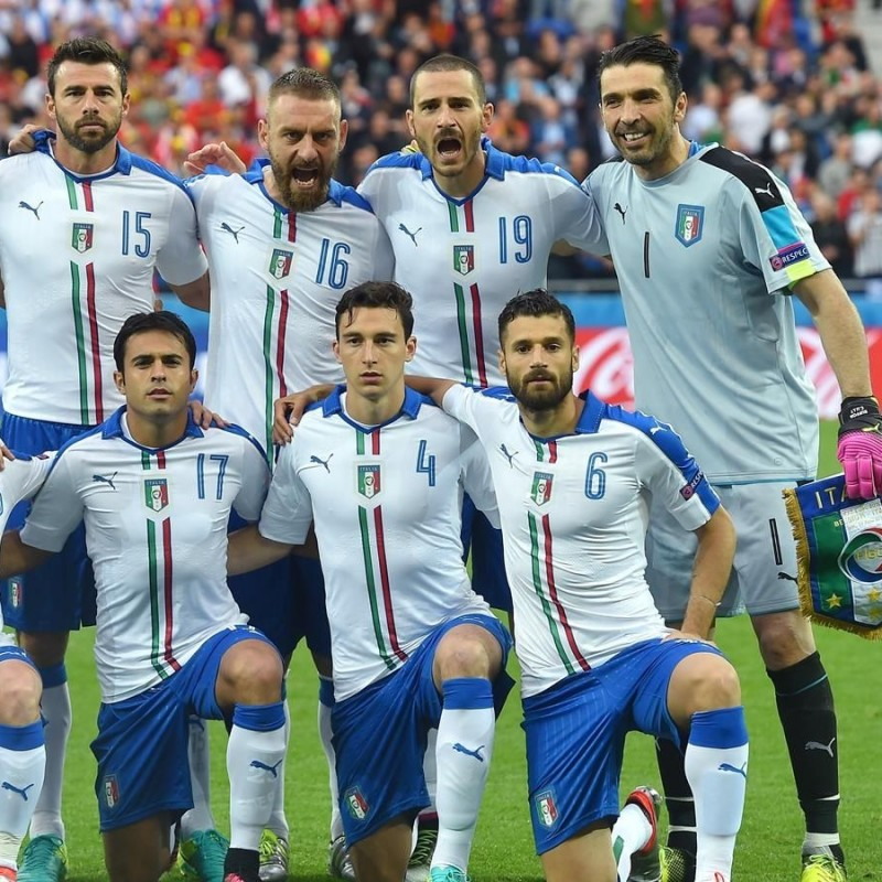 Candreva's Match-Issue Belgium-Italy Euro 2016 Shirt