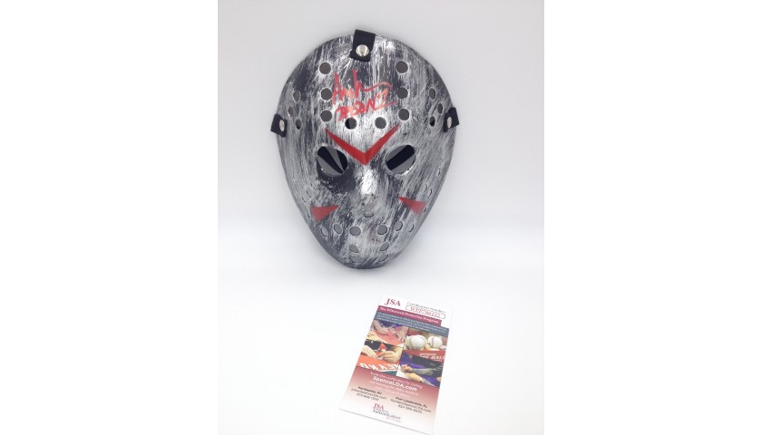 """""""Friday the 13th"""" Jason Voorhees Signed Mask"""