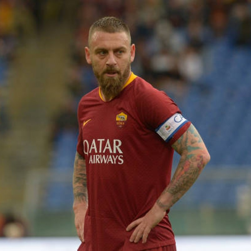 De Rossi's Roma Match-Issued Shirt, 2018/19
