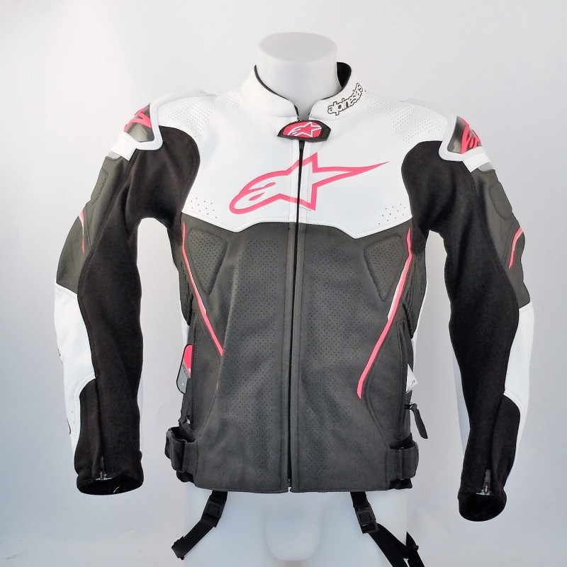 "Leather Motorcycle Jacket Alpinestars - ""Romboni"" Logo"