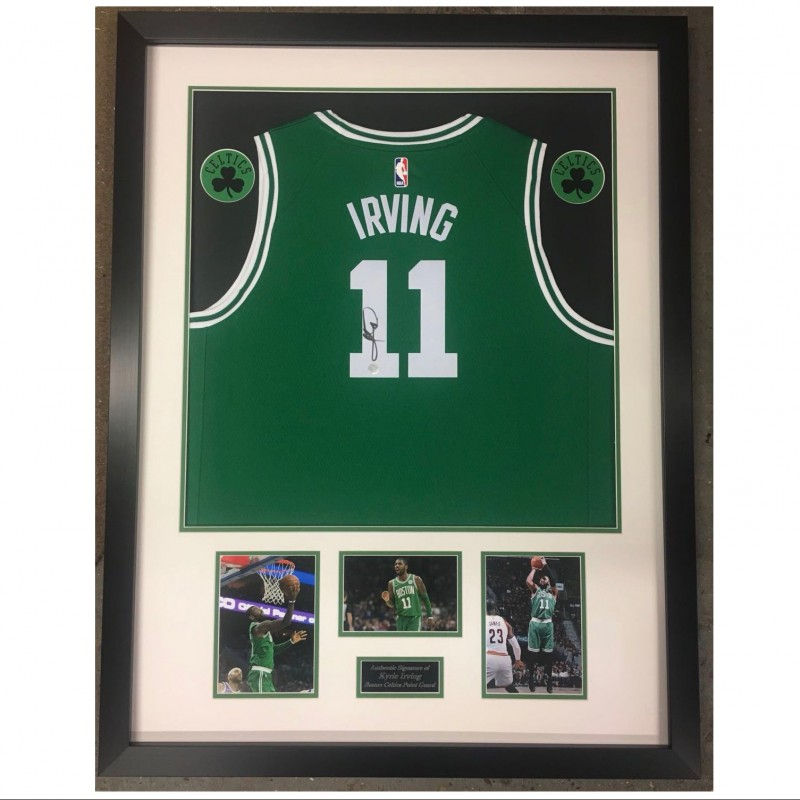 Framed Official Boston Celtics Shirt Signed by Kyrie Irving