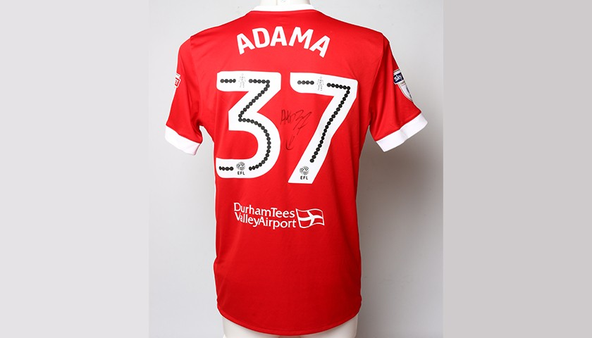 Signed Poppy Shirt From Middlesbrough S Adama Traore Charitystars