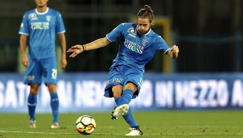 Castagnetti's Match-Worn Shirt from Empoli-Ascoli with a Special #AiutiamoLI Patch