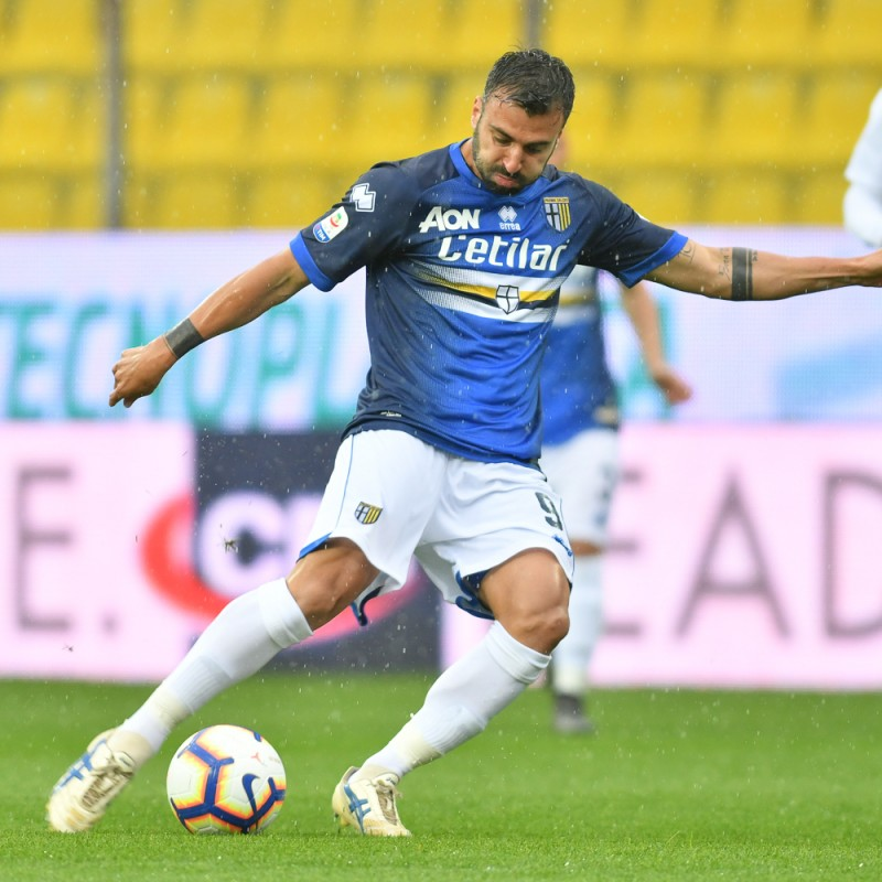 Ceravolo's Worn Kit, Parma-Sampdoria - #Blucrociati