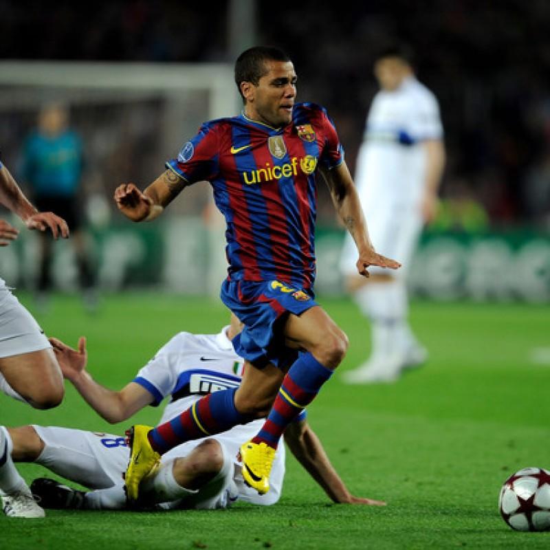 Dani Alves Barcelona Match Shirt, UCL 2009/10