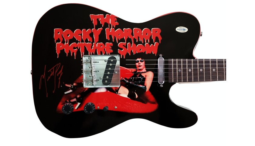 """Meatloaf Hand Signed """"Rocky Horror Picture"""" Guitar"""