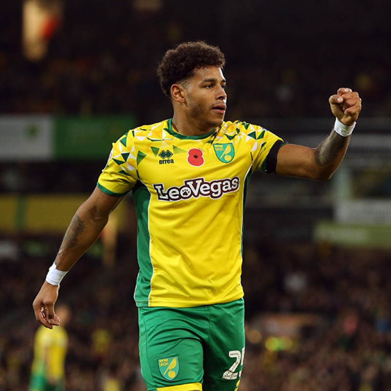 Hernández's Worn and Signed Norwich City Poppy Shirt