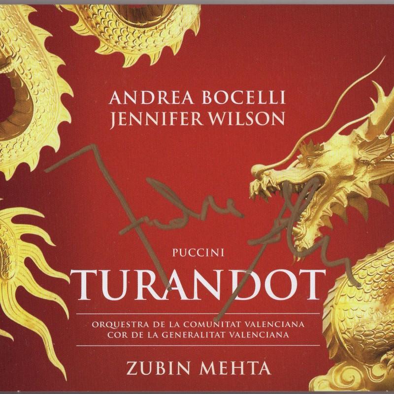 Turandot CD Signed by Andrea Bocelli