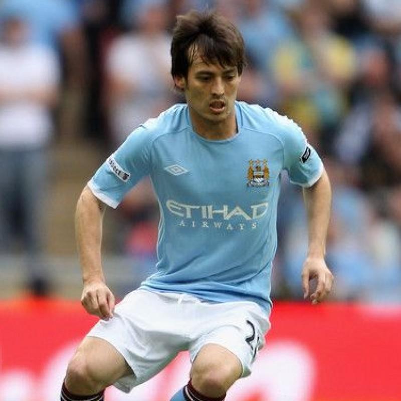 Silva's Manchester City Match Shirt, 2010/11