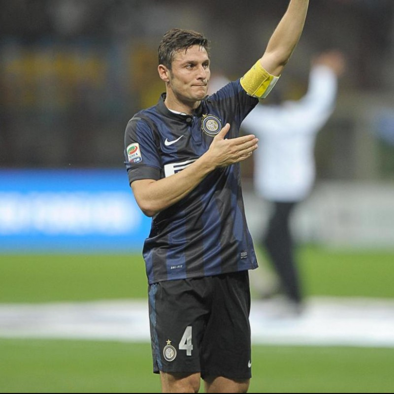 Authentic Inter 2013/14 Sweatshirt - Signed by Javier Zanetti