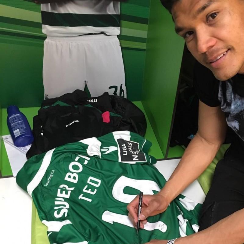Match worn Gutierrez shirt, SCP Sporting CP-Maritimo Primeira Liga 09/04 - signed