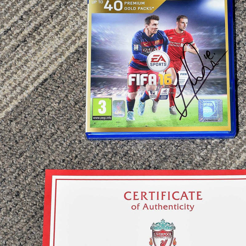 FIFA 16 on PS4 Signed by Jordan Henderson