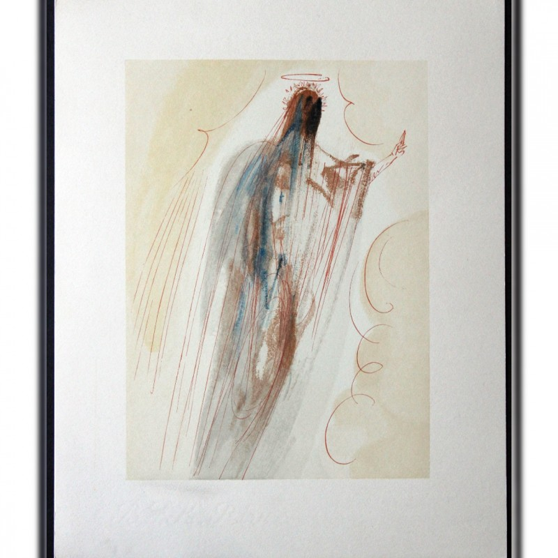 "Original Board by Salvador Dalì - ""Arrivo nell'Empireo"" Paradiso Canto XXX"
