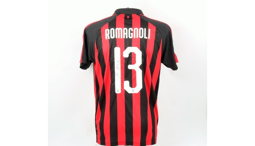 Romagnoli's Official Milan Shirt, 2018/19 - Signed