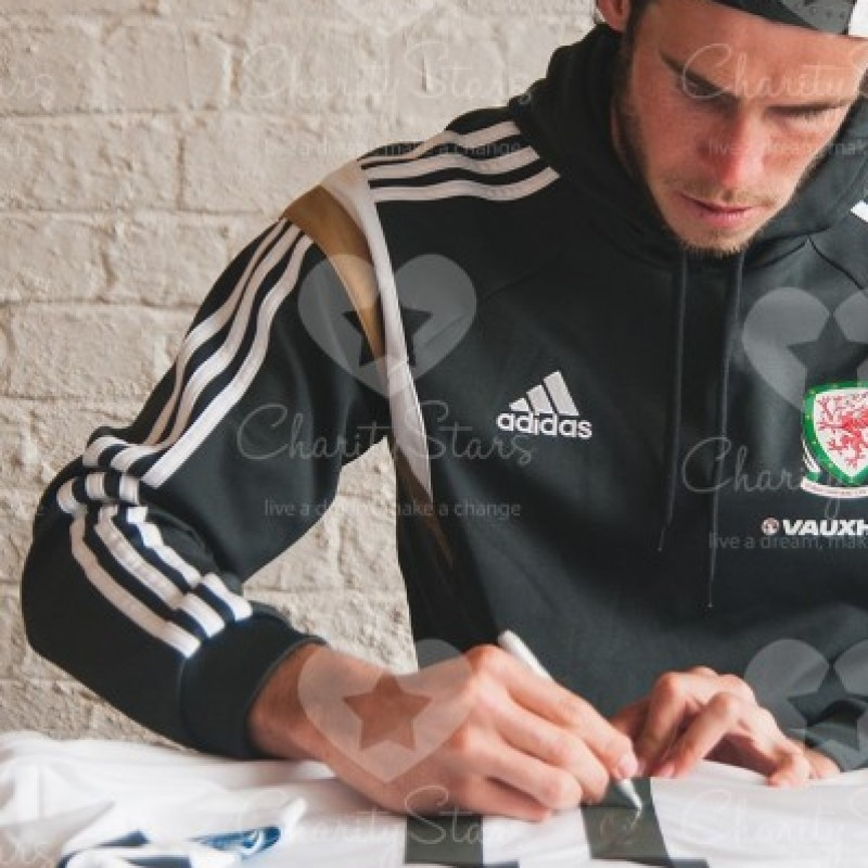 Gareth Bale Signed and Personally Dedicated Real Madrid Shirt