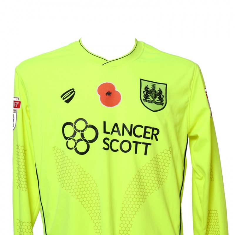 Match-Worn Poppy Shirt by Bristol City FC's Goalkeeper Frank Fielding