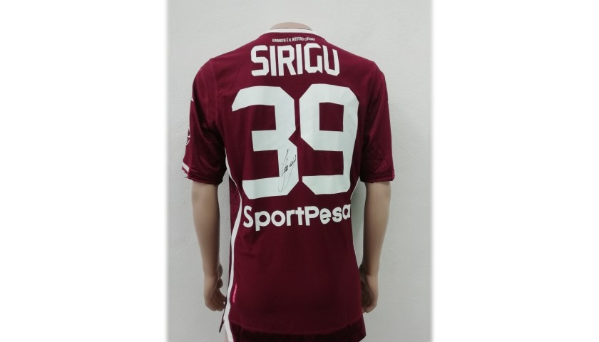 Sirigu's Torino Match-Issue Signed Shirt, 2018/19