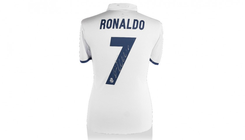 buy online b5188 f9cec Signed Ronaldo Real Madrid Jersey 2016/2017 - CharityStars
