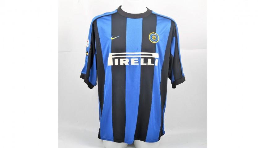 Blanc's Match-Issued/Worn Inter Shirt, Serie A 1999/00 - CharityStars