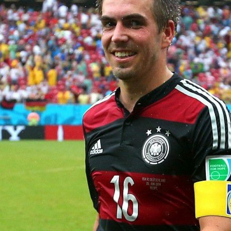 Lahm shirt, issued/worn USA-Germany World Cup 2014