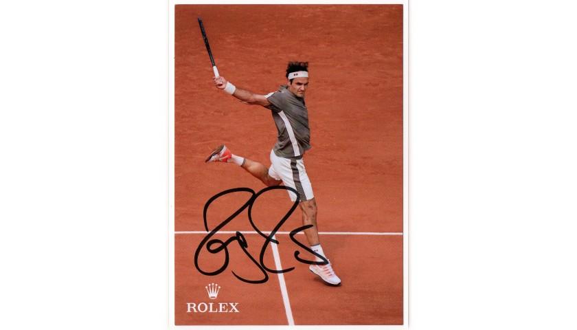 Official Roger Federer Signed Postcard