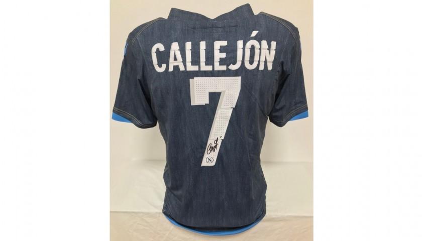 Callejón's Napoli Signed Match Shirt, 2014/15