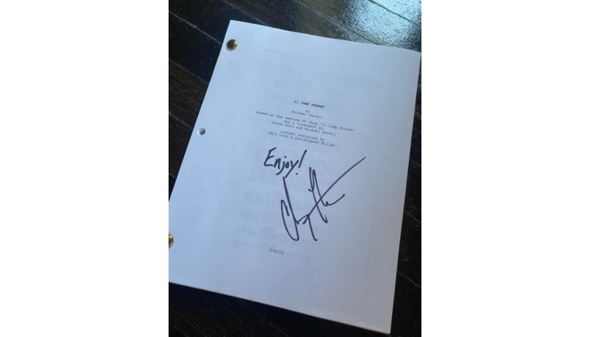 Personalized 21 Jump Street Script Signed by Channing Tatum