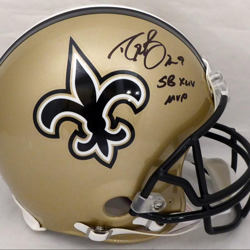 "Drew Brees Signed ""SB MVP"" Saints Helmet"