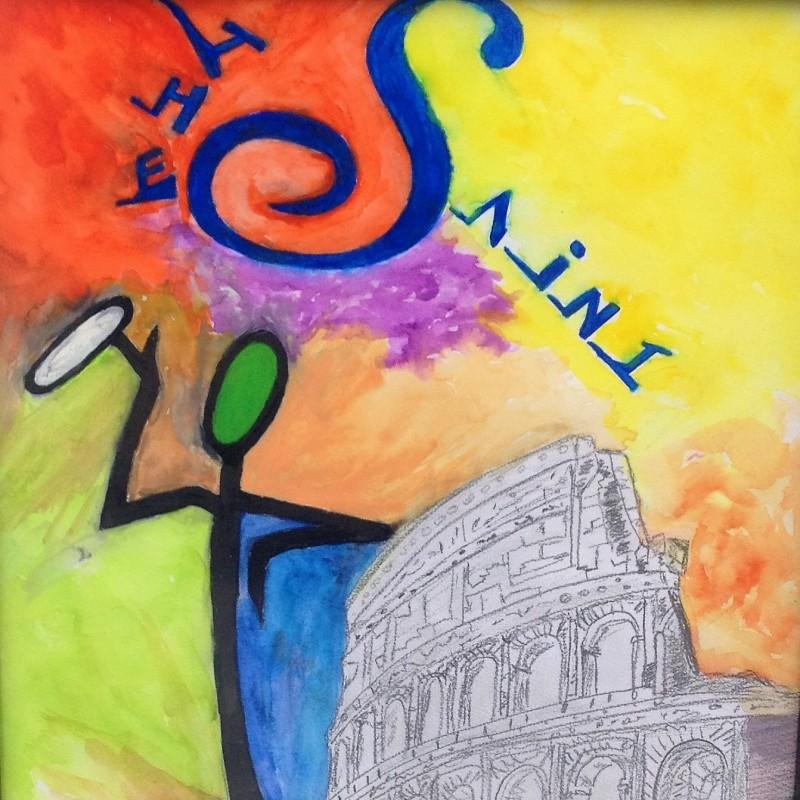 """The Saint in Rome"" Original Board by J.E."