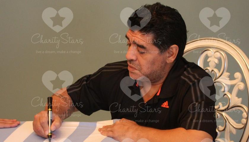 Argentina 1986 Diego Armando Maradona's signed t-shirt