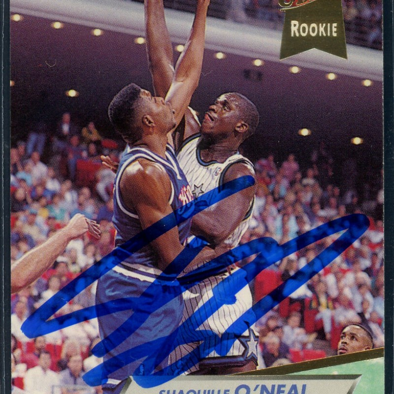 Shaquille O'Neal Signed Rookie Card