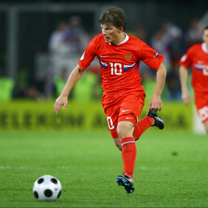 Arshavin's Official Russia Signed Shirt, 2008