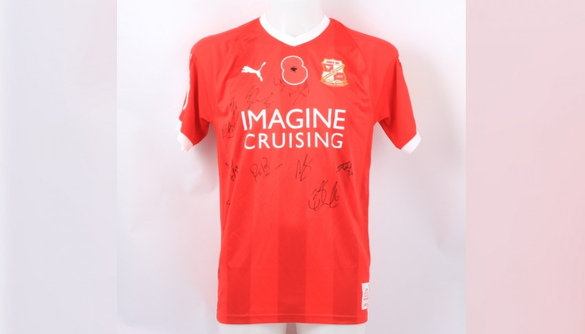 Swindon Town Official Poppy Shirt Signed by the Team