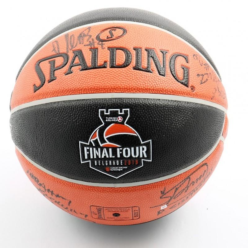 Official 2018 Turkish Airlines EuroLeague Final Four Ball Signed by Euroleague Basketball Ambassadors
