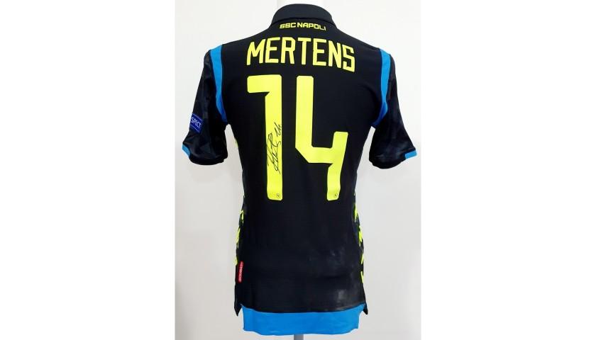 Mertens' Napoli Worn and Signed Shirt, EL 2018/19
