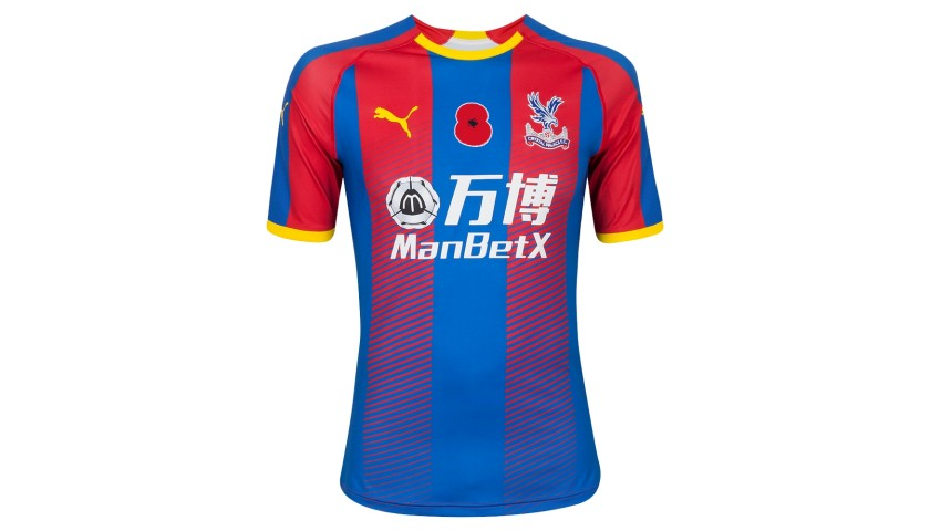 Johnny Williams's Crystal Palace F.C. Match-Issue Signed Home Poppy Shirt