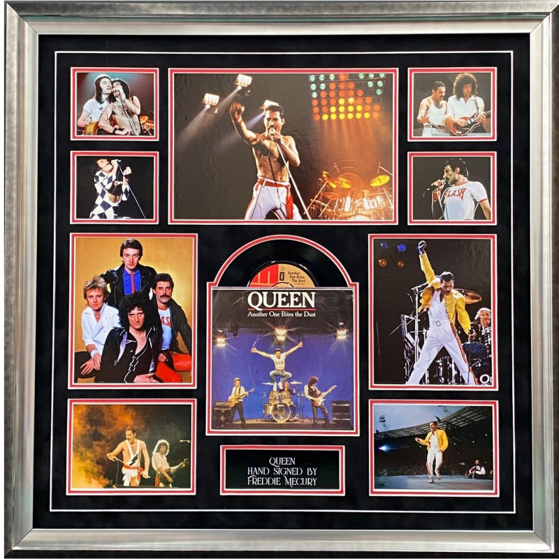 Freddie Mercury Signed Queen Display