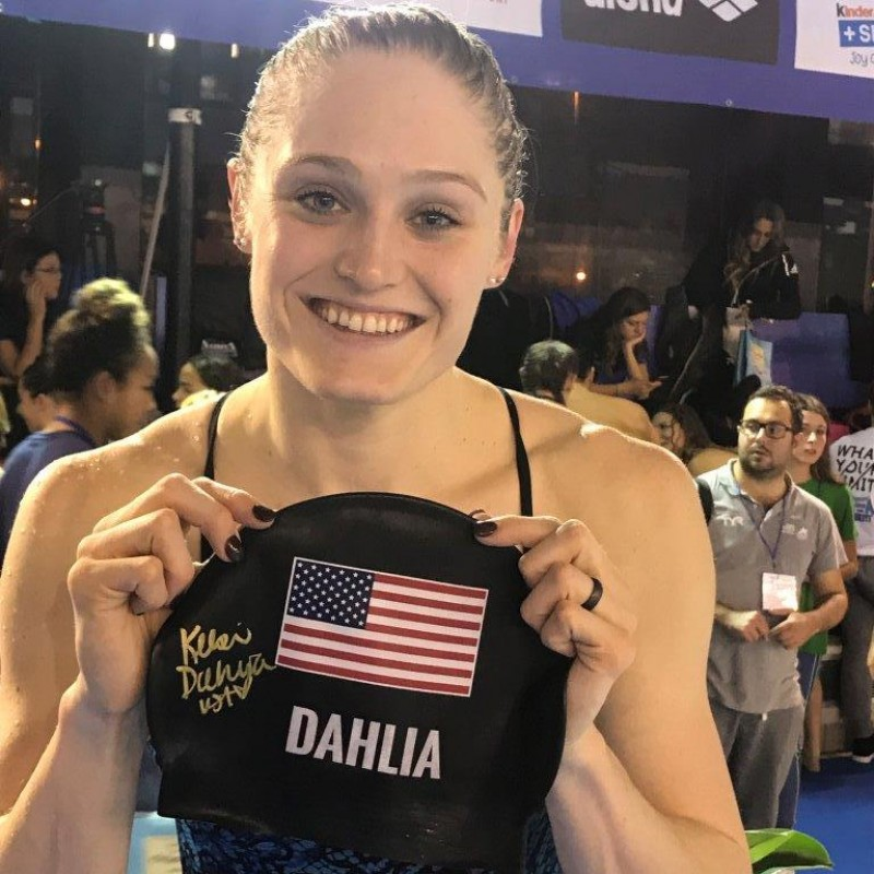 Kelsi Dahlia's Worn and Signed Swimming Cap