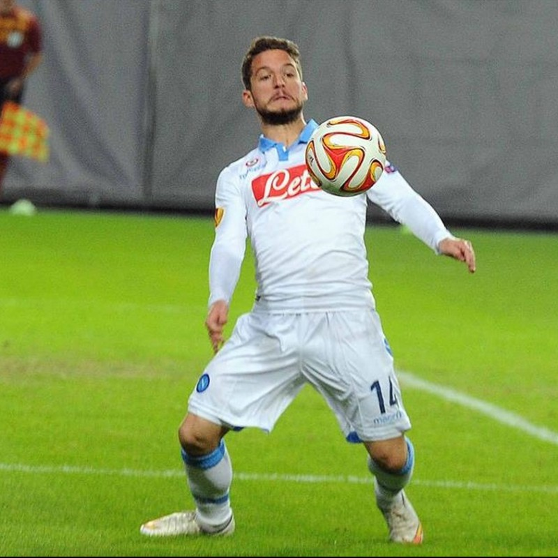 Mertens' Napoli Worn and Signed Shirt, EL 2014/15