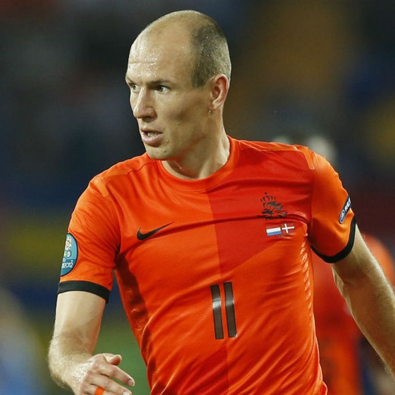Robben's Official Holland Signed Shirt, 2012