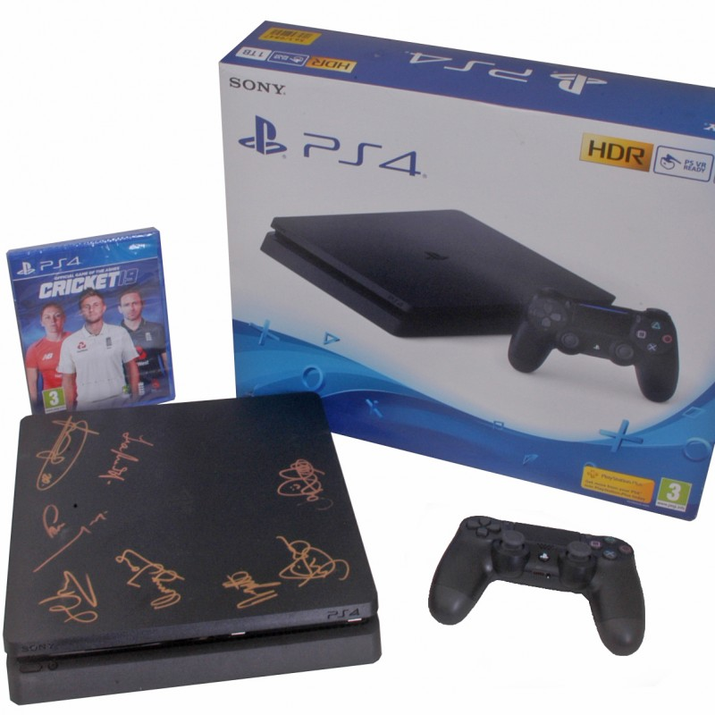 PS4 Hand Signed by England's 2019 World Cup Winners with PS4 Cricket 19 Game