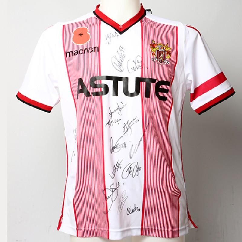 Poppy Shirt Signed by Stevenage F.C.