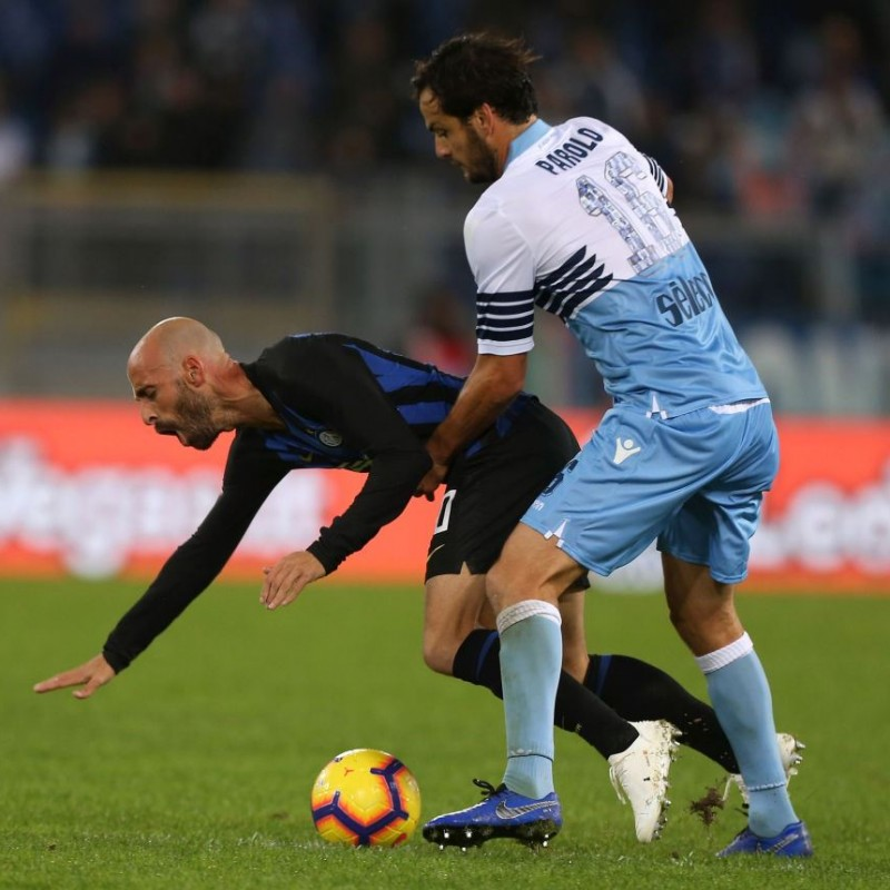 Maglia gara Parolo, Lazio-Inter 2019 - Numeri Speciali