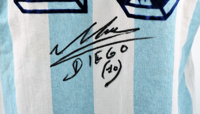 Official 1986 Argentina Shirt Signed by Maradona