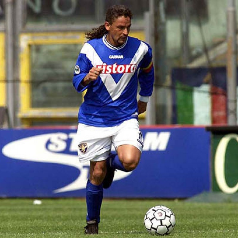 Baggio's Official Brescia Signed Shirt, 2000/01