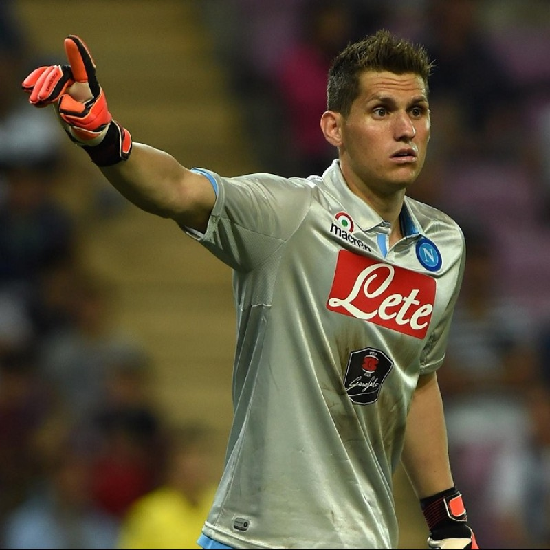 Rafael's Napoli Worn and Signed Shirt, 2014/15