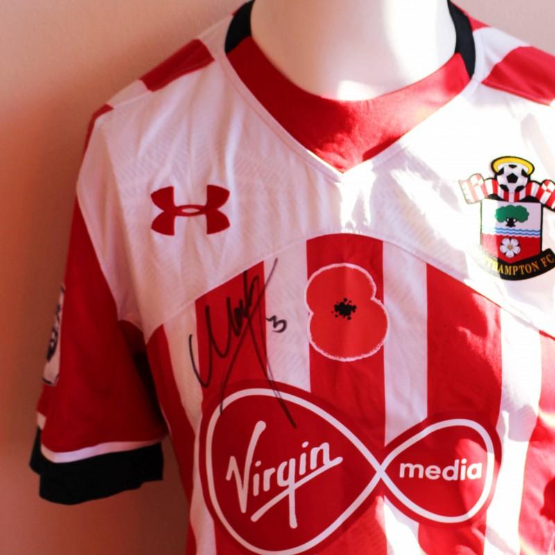 dcf6f4072 Maya Yoshida s Match Issued and Signed Southampton FC Poppy Shirt from ...